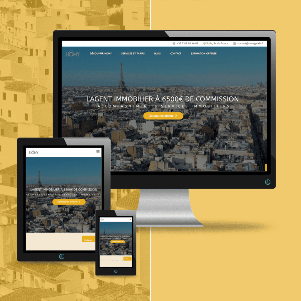 Agence immobiliere Homy Paris site internet