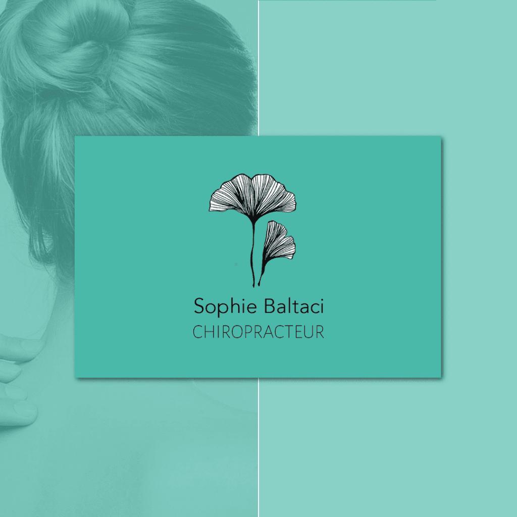 Sophie Baltaci Chiropracteur carte de visite verso