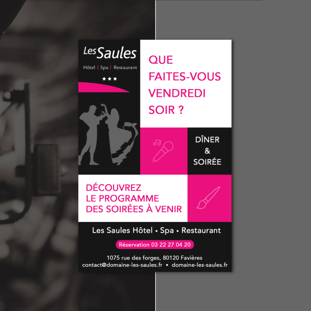 Flyer Les Saules hotel spa restaurant recto