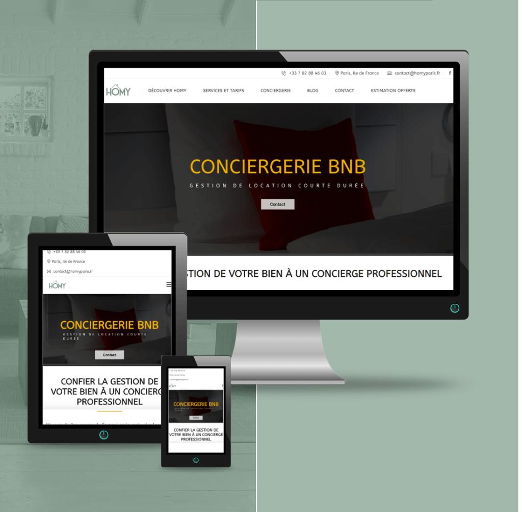 Site internet agence immobilière HOMY paris
