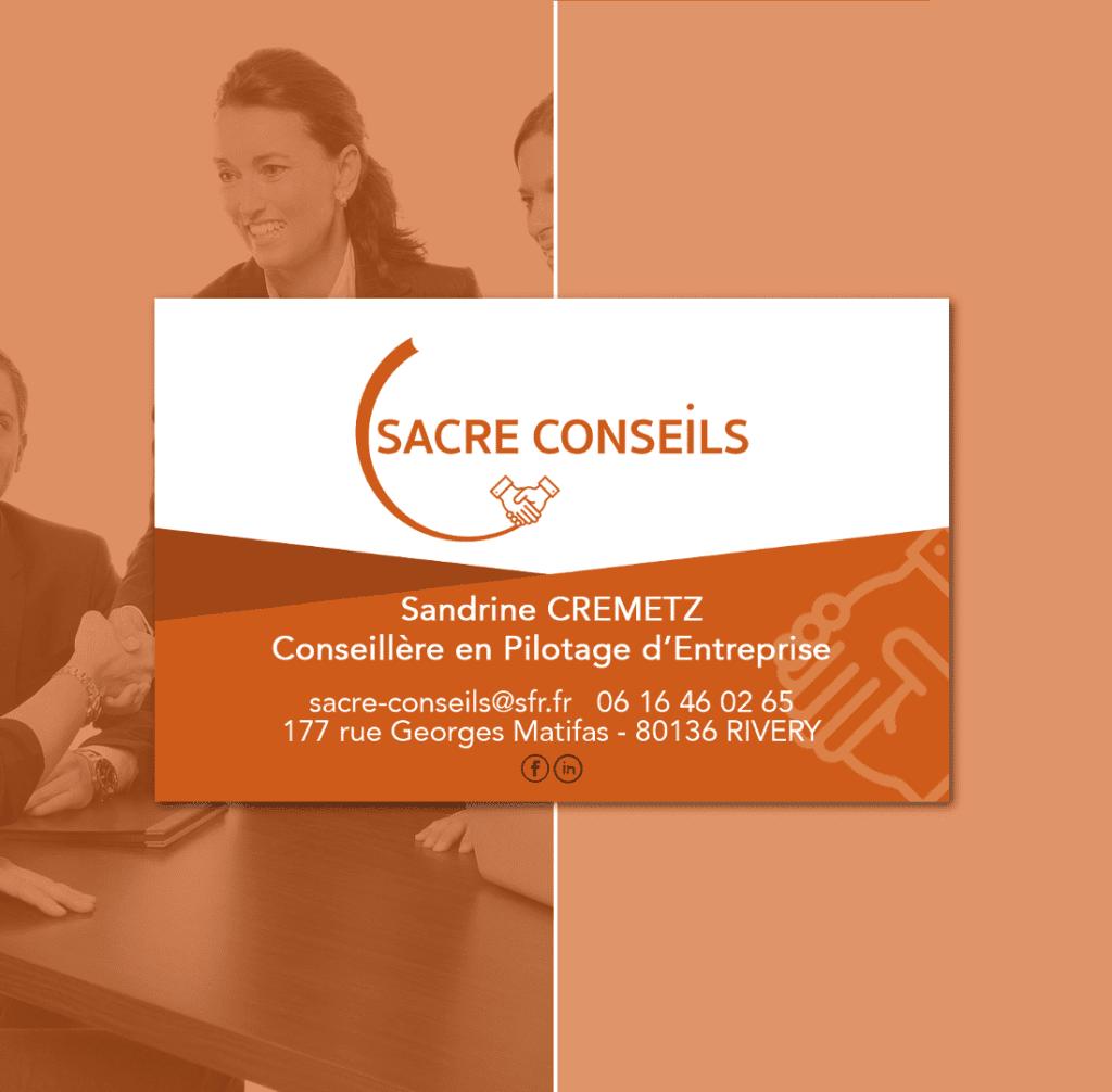 Carte de visite Sacre Conseil Rivalis Sandrine