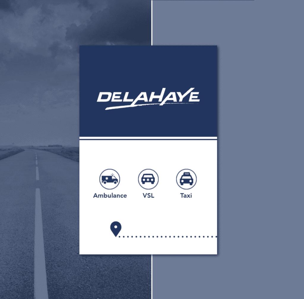 Carte de visite Delahaye ambulance VSL Taxi