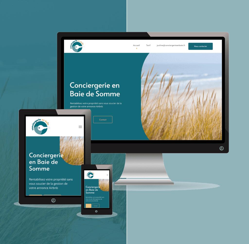 Conciergerie en Baie de Somme site internet